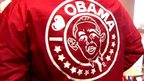 A jacket featuring Obama's face