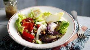 Ma's macadamia salad