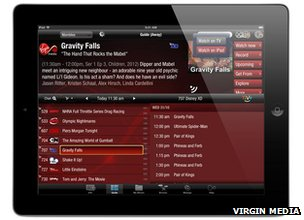 Virgin TV Anywhere app