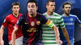 Michael Carrick, Xavi, Joe Ledley and Juan Mata