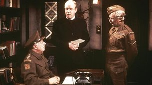 Arthur Lowe, Frank Williams and Clive Dunn in Dad's Army