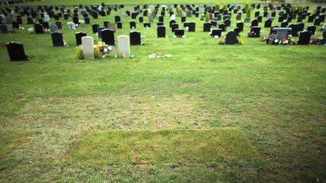 Jimmy Savile's grave in Scarborough