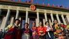 Minority delegates arrive for the opening session of the Communist Party congress at the Great Hall of the People, Beijing, 8 November 2012