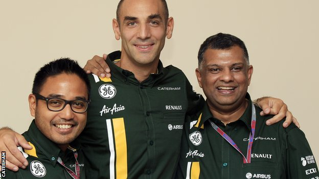 Riad Asmat, Cyril Abiteboul and Tony Fernandes