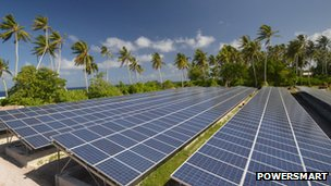 Solar grids at the The Tokelau Renewable Energy Project