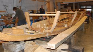 Boat building in Cornwall