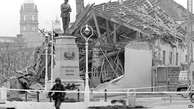 Enniskillen in the aftermath of the Poppy Day bombing
