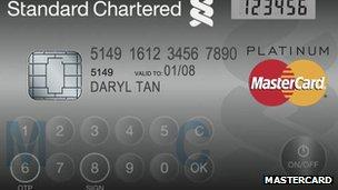 Mastercard LCD credit card
