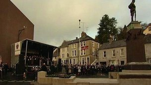 memorial service at Enniskillen cenotaph