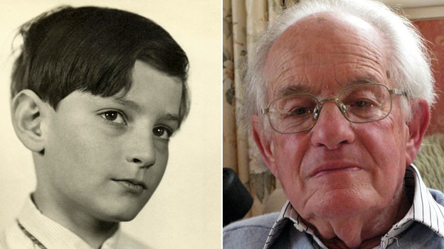 Edgar as a boy and an old man
