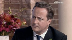 David Cameron on ITV1's This Morning
