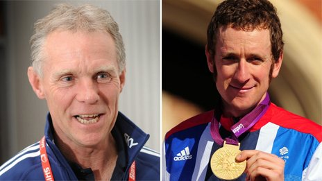 Shane Sutton (left) and Bradley Wiggins