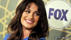 Actress Lea Michele, star of Fox show Glee