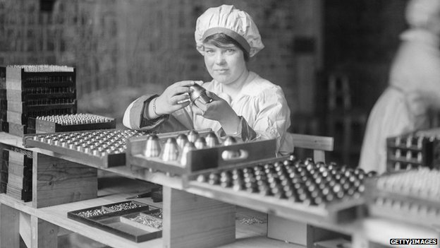 Woman at work during WWI