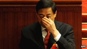 Bo Xilai seen at the closing ceremony of the National People&#039;s Congress in the Great Hall of the People in Beijing on 14 March 2012