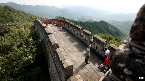 Section of Great Wall of China