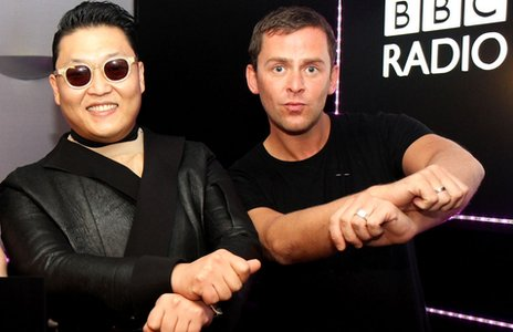Psy and Scott Mills