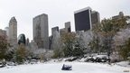 Central Park covered with snow New York, New York 8 November 2012