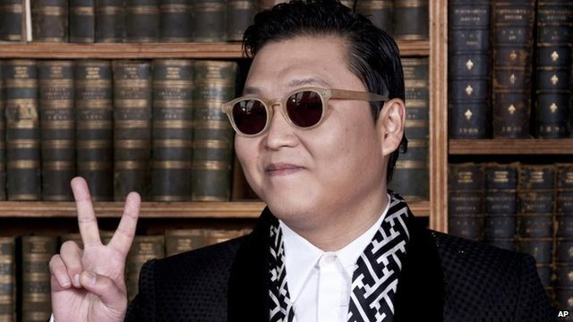 Korean pop star Psy