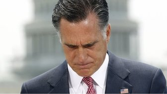 Mitt Romney in June 2012 after a Supreme Court ruling upheld Obama's Affordable Healthcare Act
