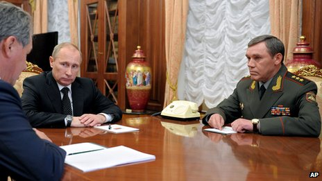 Gen Gerasimo and President Putin