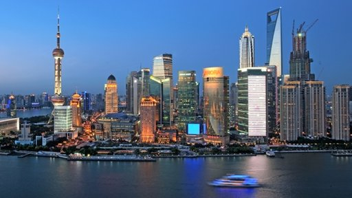 Spectacular skyline of Shanghai