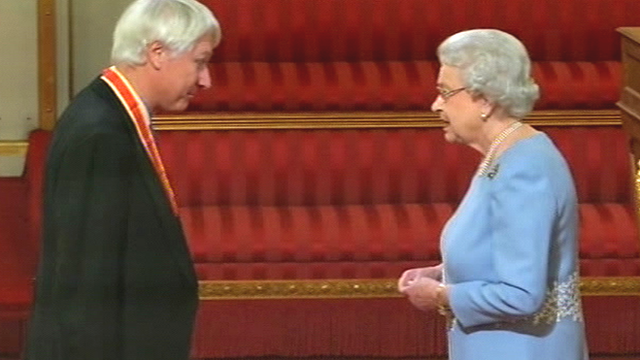 Sir Michael Birt and Her Majesty The Queen