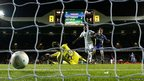 Tottenham's Jermain Defoe scores his hat-trick against NK Maribor at White Hart Lane, London