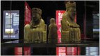 The Lewis Chessmen at the Manx Museum's Forgotten Kingdom exhibition