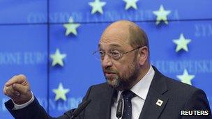 European Parliament President Martin Schulz - file pic