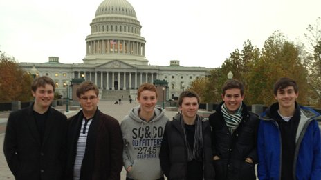 Bangor Grammar pupils in Washington DC