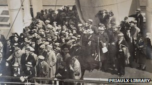 Guernsey football fans travelling to Jersey by boat in the 1930s