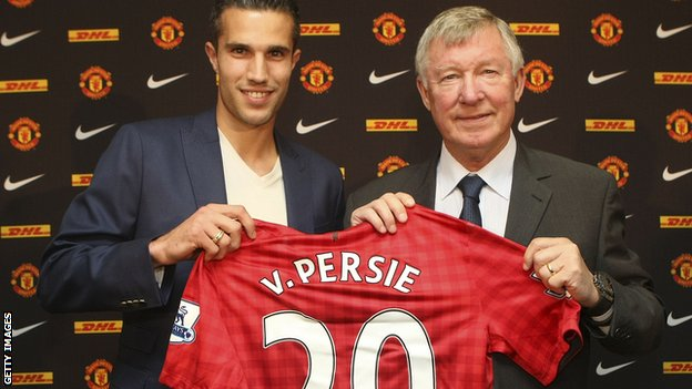 Robin van Persie and Sir Alex Ferguson
