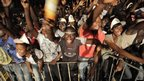 Reggae fans at a concert in Abidjan, Ivory Coast - Saturday 3 November 2012