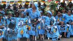 Women in Democratic Rally of the Cameroon People (RDPC) dresses, Yaounde, Cameroon - Tuesday 6 November 2012
