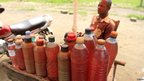 Roadside petrol seller in DR Congo - Saturday 3 November 2012
