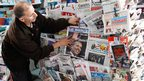 A newspaper seller in Casablanca, Morocco - Thursday 8 October 2012
