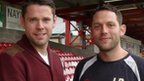 Accrington player-coach James Beattie and manager Leam Richardson