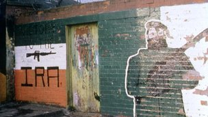 IRA graffiti on a wall in Belfast