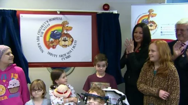 Catherine Zeta Jones officially renames the Children's Hospital for Wales