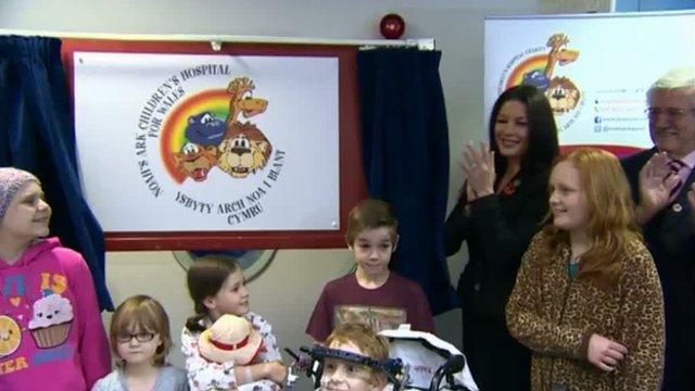 Catherine Zeta Jones officially renames the Children's Hospital for Wales