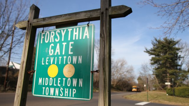 sign for Levittown, Pennsylvania