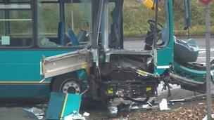 Scene of bus crash