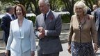 Julia Gillard, the Prince of Wales and Duchess of Cornwall