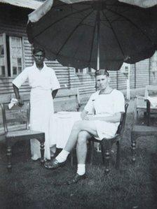 George Davies in Sri Lanka during World War II