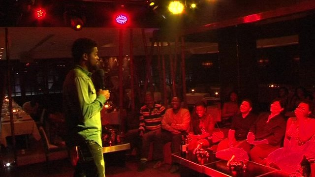 Nigerian comedian in Dubai