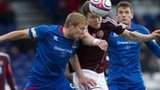 Inverness and Hearts drew 1-1 in the Highland capital