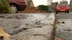 Leak on a street in Ilkeston