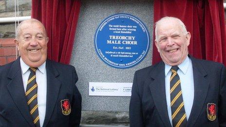 Islwyn Morgan (left) and Norman Martin