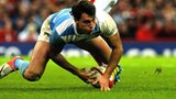 Juan Imhoff scores Argentina's opening try